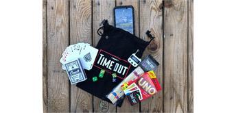 Timeout - Smartphonesafe mit 4 Spielen Schloss schwarz