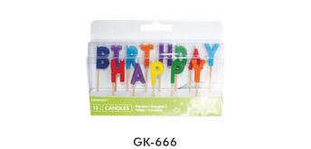 Tortenkerzen in Buchstabenform Happy Birthday