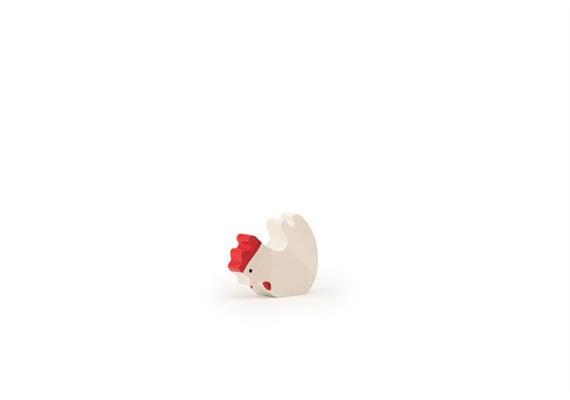 Trauffer Huhn fressend weiss 1319