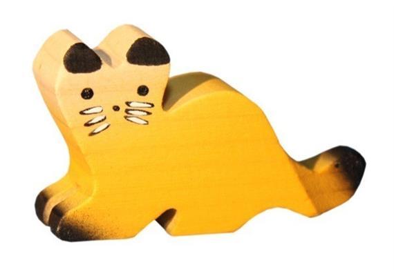 Trauffer Katze liegend braun 1312