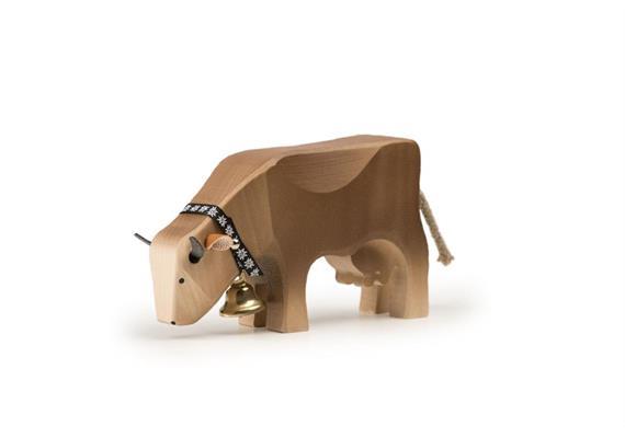 Trauffer Kuh 2 fressend braun 1017