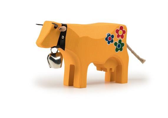 Trauffer Kuh Hippie gross gelb 1098