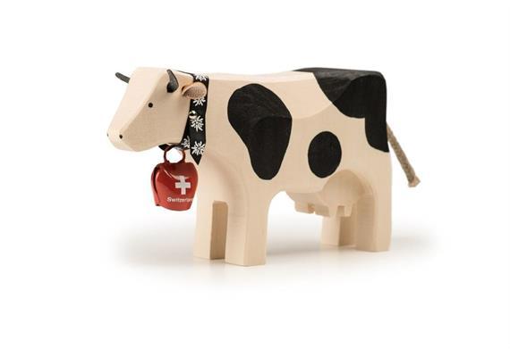 Trauffer Kuh mit Switzerland-Glocke 1064