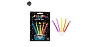 Trendhaus Birthday Fun Farbflammen-Kerzen
