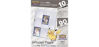 UtraPro Pokémon 9-Pocket Pages 10 Pages 11 Holes