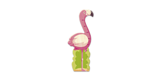 Weizenkorn Messlatte Flamingo