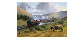 Wentworth Wooden Puzzles - LMS The Royal Scot, Tebay Troughs, 1935 - Maxi
