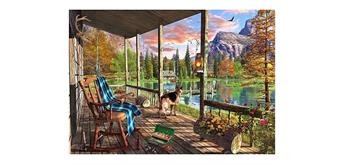 Wentworth Wooden Puzzles - Mountain Cabin - Micro