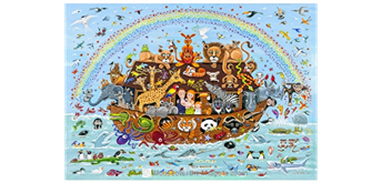 Wentworth Wooden Puzzles - Noah's Ark -100 tlg.