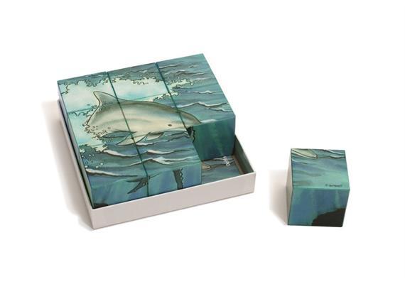 Würfelpuzzle Meerestiere