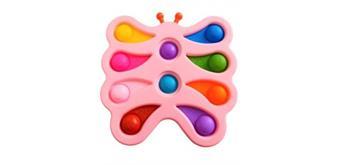 XL Fidget Pad Butterfly - 17 cm Pink
