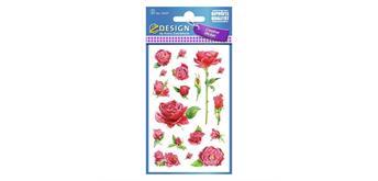 Z Design Creative Papier 54337 - Sticker Rosen permanent